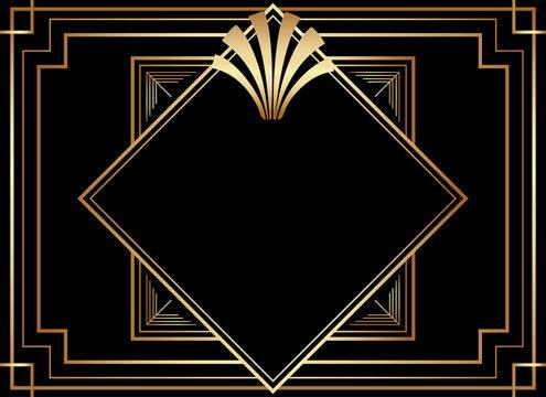 Geometric Art Deco Style Frame Design