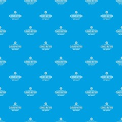 Clothes button accessory pattern vector seamless blue repeat for any use