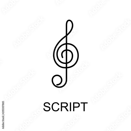 music script icon  Element of simple music icon for mobile concept