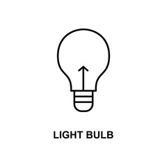 light bulb icon. Element of simple web icon with name for mobile concept and web apps. Thin line light bulb icon can be used for web and mobile