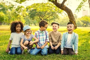 Happy kids in the park