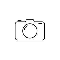 camera icon. Element of simple travel icon for mobile concept and web apps. Thin line camera icon can be used for web and mobile