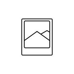 the photo icon. Element of simple travel icon for mobile concept and web apps. Thin line the photo icon can be used for web and mobile