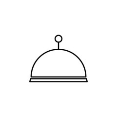 restaurant tray icon. Element of simple travel icon for mobile concept and web apps. Thin line restaurant tray icon can be used for web and mobile