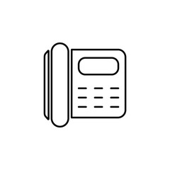 phone number icon. Element of simple travel icon for mobile concept and web apps. Thin line phone number icon can be used for web and mobile