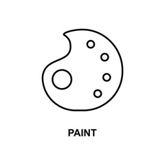 paint icon. Element of simple web icon with name for mobile concept and web apps. Thin line paint icon can be used for web and mobile