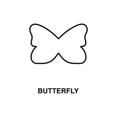 butterfly icon. Element of simple web icon with name for mobile concept and web apps. Thin line butterfly icon can be used for web and mobile