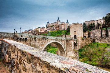 Toledo city and the Tagus River