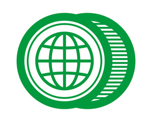 green globe earth vector image symbol icon