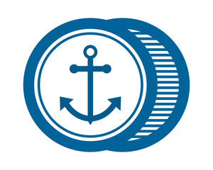 blue anchor dock marine navy sailor image vector symbol logo icon