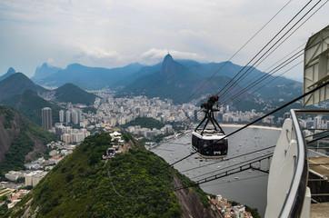 The Sugarloaf mountain cable car, Rio de Janeiro, Brazil