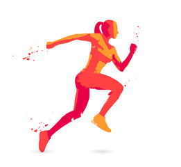 Runner. Sport concepts. Healthy lifestyle