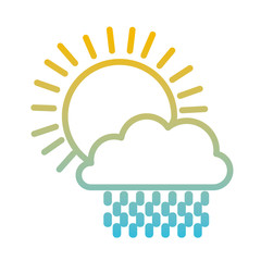 sun and cloud rain weather vector illustration design
