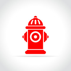 fire hydrant icon on white background
