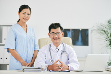 Cheerful medical team