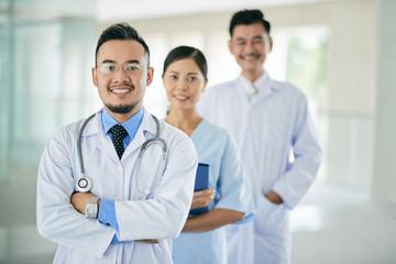 Smiling general practitioner