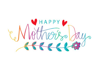Happy Mother's day  hand lettering.