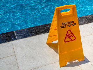 Caution Wet Floor Warning Sign