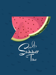 nice and beautiful abstarct or poster for Water Melon with nice and creative design illustration.
