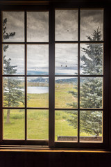 Window on HASTINGS MESA near RIDGWAY AND TELLURIDE COLORADO -famous Last Dollar Ranch in San Juan Mountains