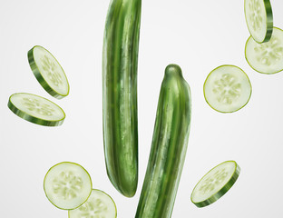 Refreshing cucumber design