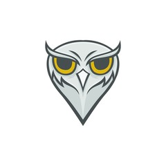 Owl vector mascot design sport animals illustration emblem isolated