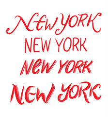 New York city hand drawn vector lettering.