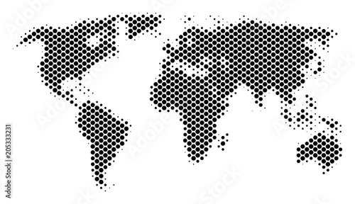 Abstract world map vector halftone territory scheme cartographic abstract world map vector halftone territory scheme cartographic pixel abstraction schematic world map gumiabroncs Choice Image