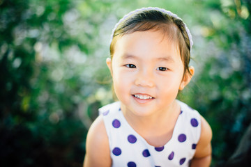 Portrait of young Asian American girl