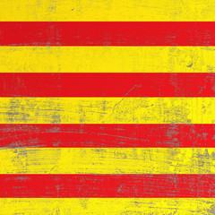 scratched Catalonia flag