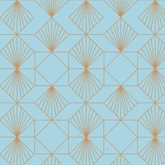 Retro, vintage, art deco, great gatsby, seamless vector pattern.