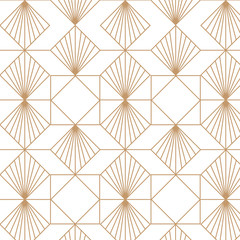 Art deco retro seamless pattern. Vector art.