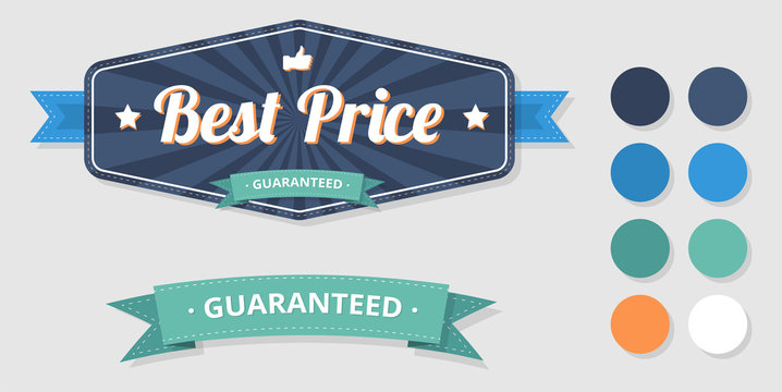 Best price guaranteed label on white.