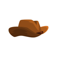 Brown cowboy hat vector Illustration on a white background