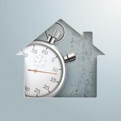 House Hole Stopwatch Concrete