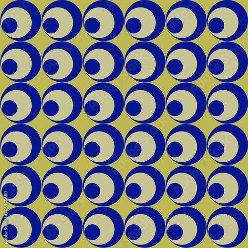 Serie Di Cerchi Blu Su Sfondo Oro Stock Photo And Royalty Free