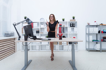 Business woman at workplace in office