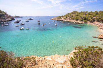 Cala Salada beach, Ibiza, Spain