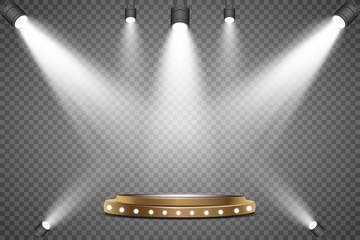 Wall Mural - Winner background. Podium with spotlights