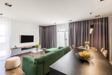 Modern Spacious Flat Interior