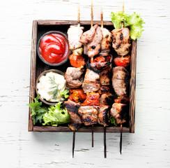 Shish kebab of pork