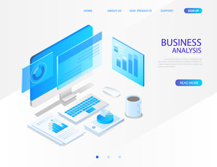 business analysis system. vector illustration
