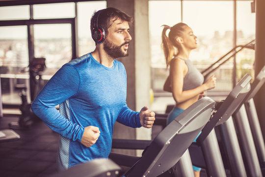 Treadmill exercise.
