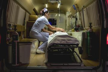 Nurse with patient.