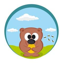 Vector Funny Bear