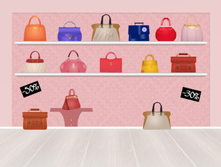 bags in the store