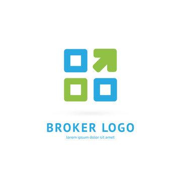 Logo design broker vector template.