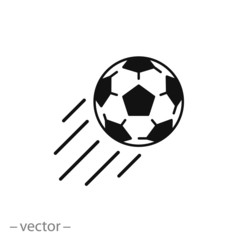 Soccer ball, vector icon