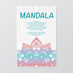 Outline mandala poster