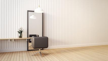 Modern & living salon interior / 3D render image